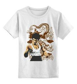 """Детская футболка классическая унисекс """"Брюс Ли"""" - спорт, кино, брюс ли"""