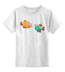 """Детская футболка классическая унисекс """"Смешные морские рыбки Оранж и Голу"""" - рыбки, футболка для мальчика, футболка для девочки"""