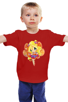 """Детская футболка классическая унисекс """"Winx club """" - фея, школа волшебниц"""
