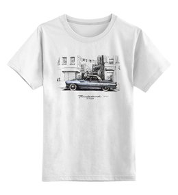 """Детская футболка классическая унисекс """" Ford Thunderbird"""" - арт, авторские майки, авто, рисунок, машина"""