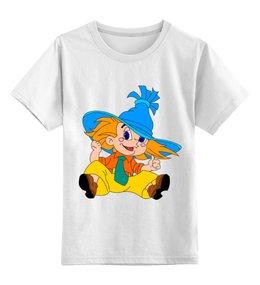 """Детская футболка классическая унисекс """"Незнайка"""" - мультяшки, рисунок, незнайка"""