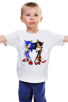"""Детская футболка классическая унисекс """"Sonic X"""" - соник, еж соник, sonic, shadow, соник шэдоу"""