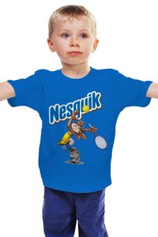 """Детская футболка классическая унисекс """"Кролик"""" - заяц, теннис, несквик"""