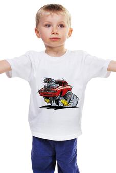 """Детская футболка классическая унисекс """"Гоночный кар"""" - tshirt, super car, гоночная машина"""