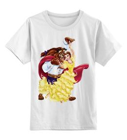 """Детская футболка классическая унисекс """"Красавица и чудовище"""" - дисней, герой, принцесса, сказка, мульт"""