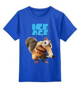 """Детская футболка классическая унисекс """"Ледниковый период"""" - мульт, ледниковый период, белка"""