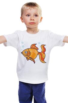 """Детская футболка """"Золотая рыбка"""" - рисунок, детский, сказка, рыба, золотая рыбка"""