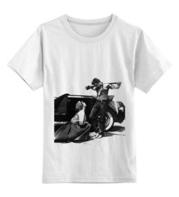 """Детская футболка классическая унисекс """"Джеймс Дин James Dean"""" - джеймс дин, james dean, giant, элизабет тейлор, elizabeth taylor"""