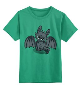 """Детская футболка классическая унисекс """"Как приручить дракона"""" - дракон, беззубик, как приручить дракона"""