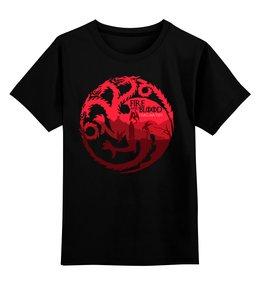 """Детская футболка классическая унисекс """"Игры Престолов (Game of Thrones)"""" - игра престолов, game of thrones, hbo"""