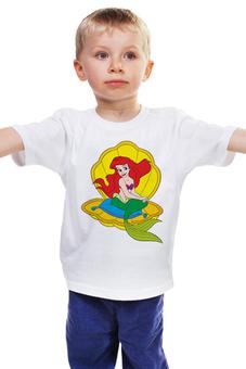 """Детская футболка классическая унисекс """"Русалочка"""" - дисней, мультфильмы, русалочка"""