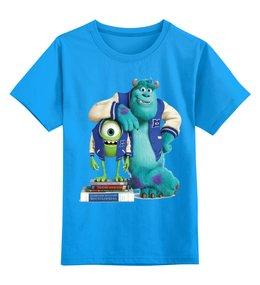 """Детская футболка классическая унисекс """"Университет монстров"""" - мульт, университет монстров"""