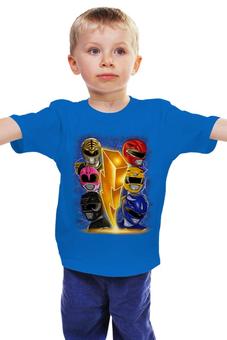 """Детская футболка """"Рейнджеры"""" - самураи, могучие рейнджеры, токусацу, рейнджеры"""