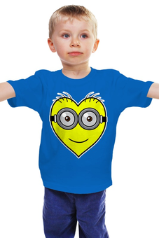 """Детская футболка """"Я люблю Миньонов"""" - миньоны, гадкий я, despicable me, minion"""