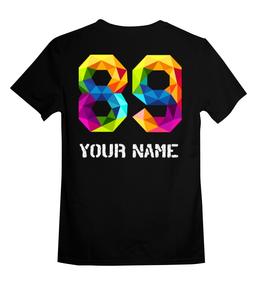 """Детская футболка классическая унисекс """"Your name"""" - фамилия номер, фамилия с номером, фамилия, номер, именные"""