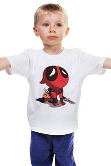 """Детская футболка классическая унисекс """"Дэдпул Deadpool"""" - комиксы, дэдпул, райаном рейнольдсом"""