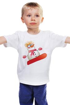 """Детская футболка классическая унисекс """"Снеговик"""" - winter, зима, снег, снеговик, snow"""