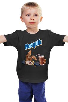 """Детская футболка """"Несквик"""" - заяц, кролик, какао"""