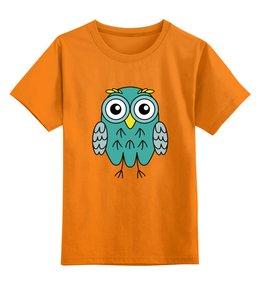 """Детская футболка классическая унисекс """"Мятная Сова"""" - животные, рисунок, сова, animals, owl"""