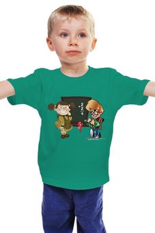 """Детская футболка """"Учат в школе """" - мальчик, девочка, школа, ученики"""
