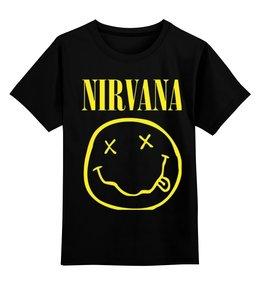 """Детская футболка классическая унисекс """"Нирвана """" - grunge, kurt cobain, nirvana, гранж, альтернативный рок"""
