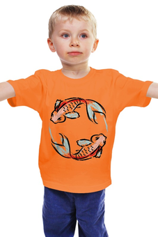 "Детская футболка ""Знак Зодиака Рыбы"" - арт, животные, рисунок, рыба, знак зодиака"