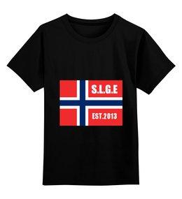 """Детская футболка классическая унисекс """"путешествие"""" - норвежский флаг"""
