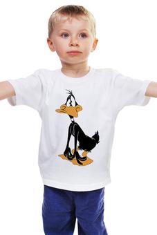 """Детская футболка классическая унисекс """"Даффи Дак"""" - daffy duck, даффи дак, утка даффи"""