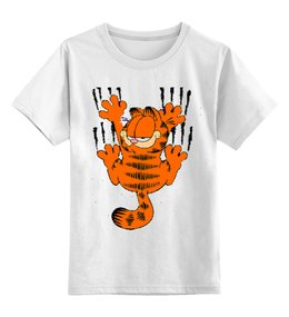 "Детская футболка классическая унисекс ""Гарфилд"" - garfield, гарфилд, cat, кот, комикс"