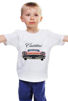 """Детская футболка классическая унисекс """"CADILLAC"""" - style, стиль, car, cadillac, oldtimer"""