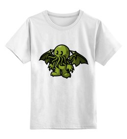 """Детская футболка классическая унисекс """"Ктулху ( cthulhu )"""" - ктулху, cthulhu, лавкрафт, lovecraft"""