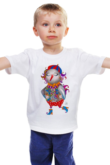 "Детская футболка ""Весенняя птица"" - арт, авторские майки, птица, рисунок"