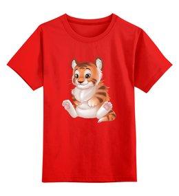 """Детская футболка классическая унисекс """"Тигрёнок """" - мультяшка"""