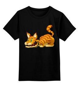 """Детская футболка классическая унисекс """"Кот Гарфилд"""" - котэ"""
