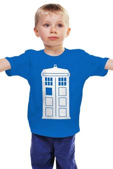 "Детская футболка ""Tardis (Тардис)"" - сериал, doctor who, tardis, доктор кто, машина времени, телефонная будка, time machine, phone box"