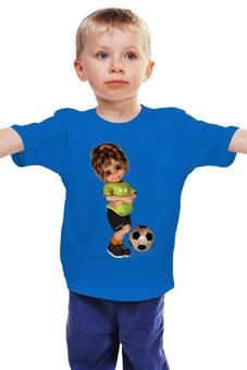 """Детская футболка """"Футболист"""" - спорт, мальчик, футбольный мяч"""