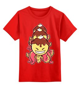 """Детская футболка классическая унисекс """"Осьминог-мороженное"""" - мороженое, осьминог"""