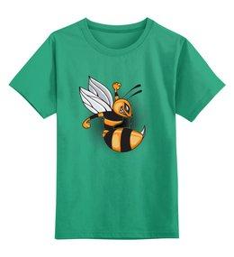 """Детская футболка классическая унисекс """"Злая пчелка """" - юмор, пчела"""