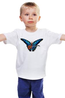 "Детская футболка ""Бабочка-гитарист"" - музыка, бабочка, butterfly, гитарист"