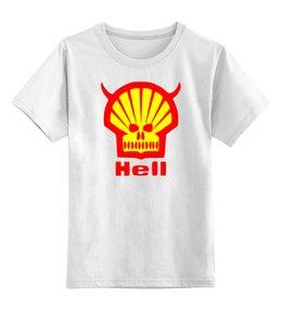 "Детская футболка классическая унисекс ""Ад (Hell)"" - пародия, ад"