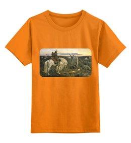 """Детская футболка классическая унисекс """"Витязь на распутье (Виктор Васнецов)"""" - картина, сказка, живопись, васнецов, богатыри"""