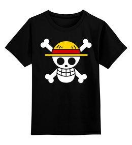 """Детская футболка классическая унисекс """"One Piece"""" - one piece, ван пис, аниме, манга, луффи соломенная шляпа"""