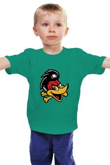 """Детская футболка """"Утка пират"""" - пираты, утка"""