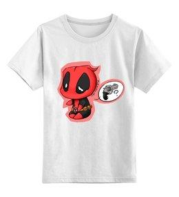 """Детская футболка классическая унисекс """"Дэдпул Deadpool"""" - комиксы, райаном рейнольдсом, дэдпул"""