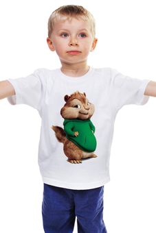 "Детская футболка ""Элвин и бурундуки"" - кино, фильм, мульт, детское, бурундук"
