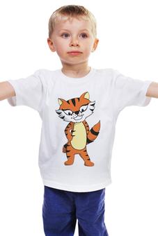"""Детская футболка классическая унисекс """"Тигренок"""" - тигр, тигренок, тигрица, год тигра"""