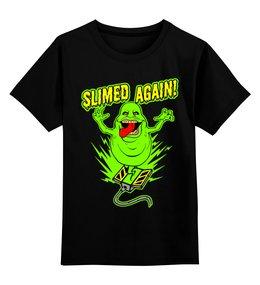 "Детская футболка классическая унисекс ""Лизун"" - охотники за привидениями, ghostbusters, slimer"