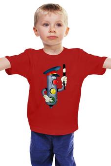 """Детская футболка классическая унисекс """"Светофор"""" - гаишник, дорожное движение"""