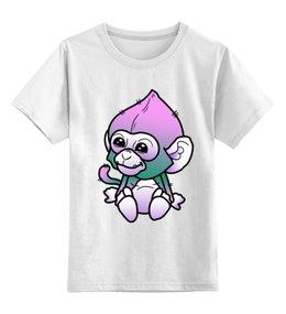 """Детская футболка классическая унисекс """"обезьяна"""" - новый год, обезьяна, 2016"""
