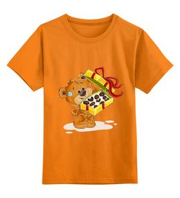 """Детская футболка классическая унисекс """"Мишка Тэдди"""" - конфеты, медвежонок, игрушка, подарочный, мишка тэдди"""